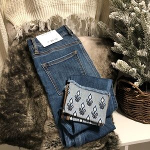 NWT Loft Embroidered Cuff Jeans in Modern Skinny